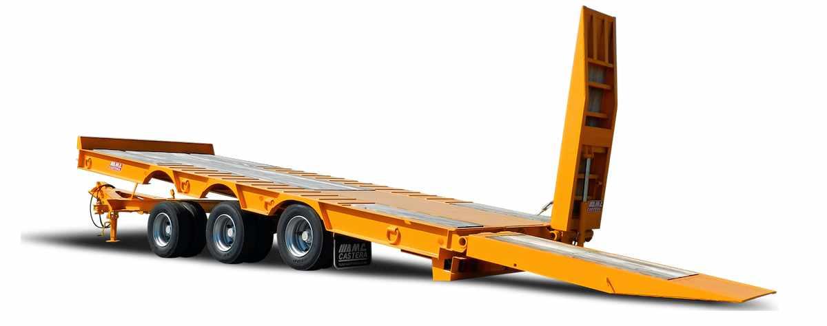 Remorque porte engin porte mat riel avec plateau basculant for Porte engin 60 tonnes